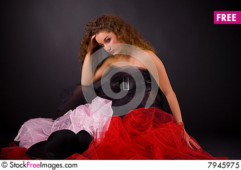 Free Beautiful Girl In Transparent Clothes Royalty Free Stock Photo - 7945975