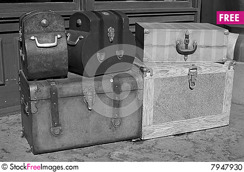 Free Classic Suitcases Stock Photo - 7947930
