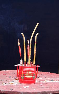 Candles And Incense Stock Images