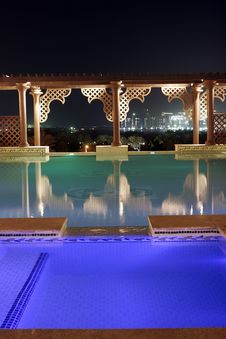 Free Pool By Night Stock Photo - 7941150