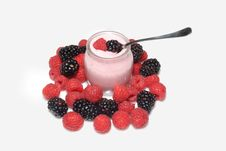 Free Yogurt With Berries Stock Image - 7942351