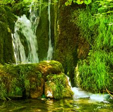 Free Waterfall In The Forest Royalty Free Stock Image - 7942376