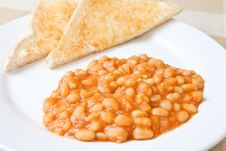 Free Beans On Toast Royalty Free Stock Photos - 7942388