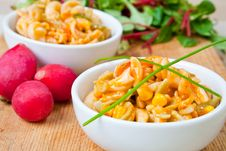 Free Healthy Bowls Of Delicious Pasta Stock Image - 7942421