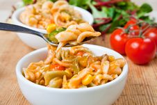 Free Healthy Bowls Of Delicious Pasta Stock Images - 7942964