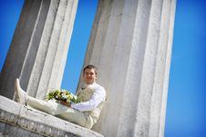 Free Groom With Flowers Royalty Free Stock Image - 7943226