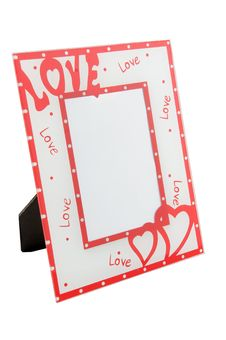 Photo Frame With Hearts Royalty Free Stock Images