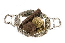 Free Chocolate Sweet On Saucer Stock Photos - 7944433