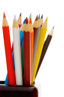 Pencils In Cup Stock Images