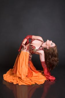 Free Belly Dancer In Red Royalty Free Stock Photo - 7945305