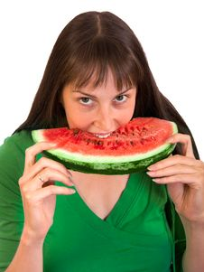 Free Girl Eating Water-melon Stock Photography - 7945372