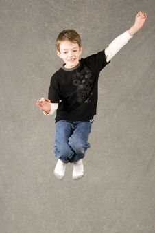 Free Little Boy Jumping Stock Image - 7945381