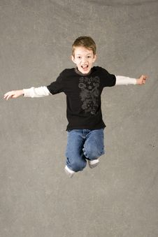 Free Little Boy Leaping In Air Royalty Free Stock Photos - 7945468