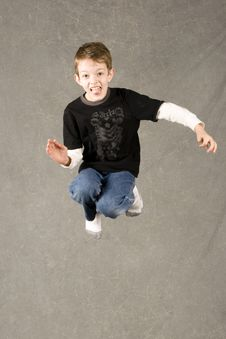 Free Little Boy Jumping Royalty Free Stock Photo - 7945475