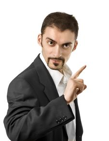 Free Businessman Pointing At Copy Space Royalty Free Stock Photography - 7945697