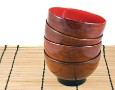 Free Stack Japanese Bowls Royalty Free Stock Photos - 7945778