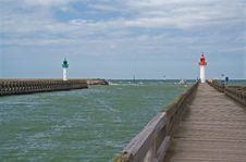 Port Entrance In Trouville Stock Photos
