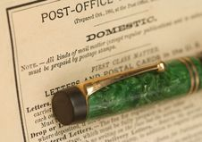 Antique Pen Royalty Free Stock Images