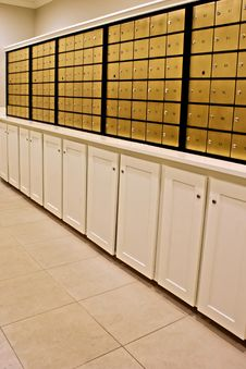 Free Indoor Mailboxes Royalty Free Stock Photos - 7947398