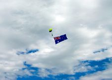 Free Skydiving With Aussie Flag Royalty Free Stock Image - 7947546