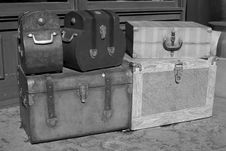 Classic Suitcases Stock Photo