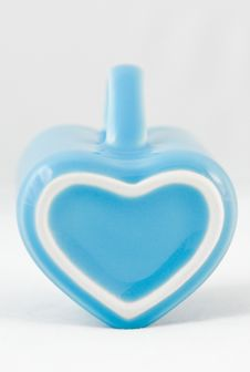 Heart-shape Cup On White Background Stock Image