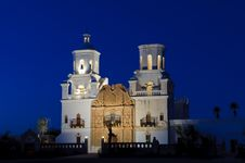 Free San Xavier Mission At Dusk Royalty Free Stock Photography - 7948337