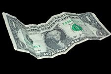 Free Wrinkled American (US) Dollar Royalty Free Stock Photos - 7948428
