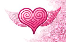 Free Heart With Wings Royalty Free Stock Photography - 7948477