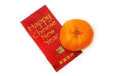 Free Mandarin Orange And Red Packet Stock Image - 7948591