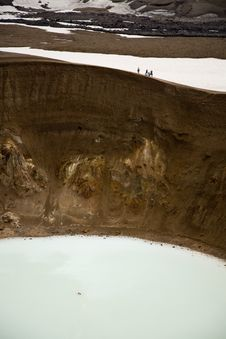 Free Swimming In The Volcano Crater Viti Stock Photos - 7948693