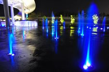 Free Fountains At Night Royalty Free Stock Images - 7948869