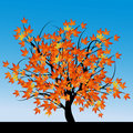 Free Abstract Tree With Autumn Leaves Royalty Free Stock Image - 7952066