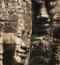 Free Stone Sculpture In Bayon Wat,Siem Reip,Cambodia Royalty Free Stock Photo - 7954715