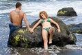 Free Girl Lying On The Rocks Stock Photo - 7957040