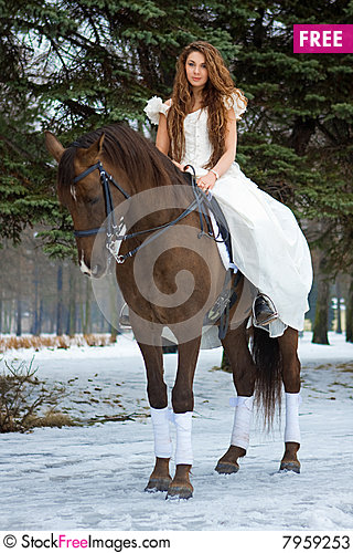Free Woman On A Horse Stock Photos - 7959253