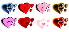 Free Beautiful Hearts Stock Photography - 7950212