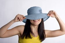Free Girl In A Summer Hat Royalty Free Stock Photography - 7950267