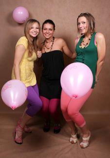 Free Three Girls Dancing Royalty Free Stock Image - 7950276