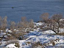 Free Fishermen In The Winter Stock Photos - 7950283