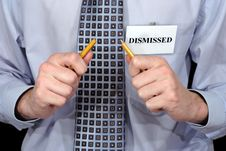 Free Dismissed Person With Broken Pencil. Stock Photo - 7950350