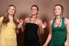 Three Female Friends Royalty Free Stock Photography