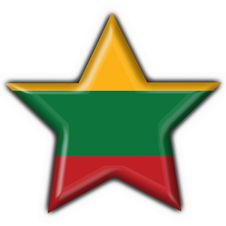 Free Lithuania Button Flag Star Shape Royalty Free Stock Images - 7950829