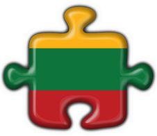 Free Lithuania Button Flag Puzzle Shape Stock Image - 7950831