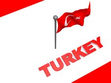 Free Turkey Flag And Map Royalty Free Stock Images - 7950909