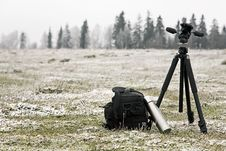 Free Photographic Tripod, Case, Thermos Stock Image - 7951011