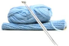 Free Two Knitting Needles, Woollen Yarn And Knitting. Royalty Free Stock Photo - 7951485
