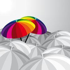 Free Funny Umbrellas Royalty Free Stock Photos - 7951598