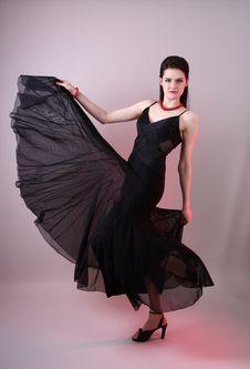 Free Fashion Model In Studio Royalty Free Stock Photos - 7951708