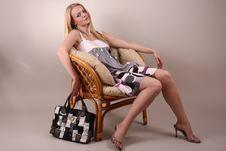 Free Fashion Model In Studio Stock Image - 7951721